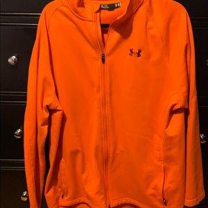 Under armour orange zip-up